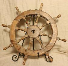 "Nautical 18"" ship wheel wood decoration"