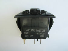 NEW CARLING VGD1 3 POSITION 12V 20 AMP ILLUMINATED ROCKER SWITCH 6 PRONG