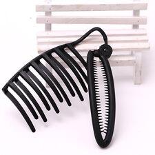 1PC DIY Hair Grips Claw Banquet Updo Bun Comb Clip French Twist Headwear