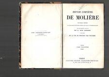 Oeuvres complètes de Molière Remarques F Lemaistre Tome III Garnier Paris E33