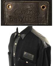RARE Vintage 70's EASYRIDERS Jacket Pullover sz L Black Wool Leather Motorcycle
