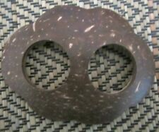 COCONUT SHELL BUCKLE TO SECURE SARONG OR SCARF OVAL FLOWER NEW