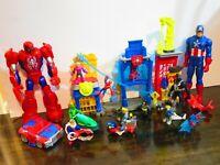 Imaginext Spider-Man Batman Mech Playskool Heroes DC Superhero Headquarters Lot