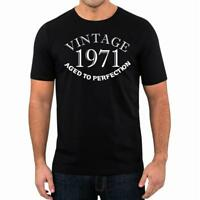 48th Birthday Present Gift Year 1971 Aged To Perfection Fun T-Shirt Unisex Tee