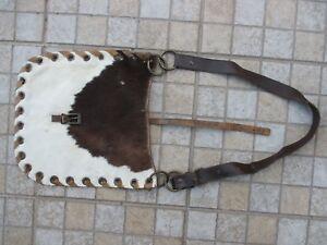 Vintage Handmade Women Genuine Hippy Cow Skin Cowhide Beautiful Shoulder Bag