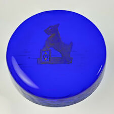 Round SCOTTIE PAPERWEIGHT Boyd's Crystal Art Glass Scottish Terrier Scotty Dog S