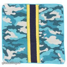 JONATHAN ADLER Camo Needlepoint Teal Blue Green Pillow Case New 20x20