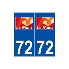72 Le Mans logo autocollant plaque stickers ville -  Angles : droits