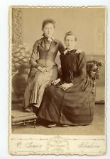 Ladies posing together antique Cabinet Card photo Blenheim, Ontario, Identified