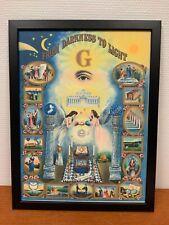 Framed engraving 30x40 cm Freemason Vrijmetselarij From Darkness To Light