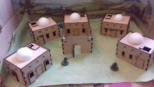 28mm Set N 5x Domed Adobe Desert arab Afghaniastan Wild West buildings Scenery