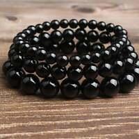 Women Bracelet Men Bracelet Black Onyx Stone Beads Bracelet 6mm 8mm 10mm 8''