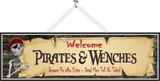 Welcome Pirates And Wenches Home Bar Sign Pub Wall Decor Pirate Tavern PM504