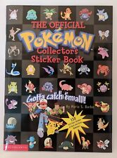 The Official Pokemon Collector's Sticker Album Scholastic 1999 Nintendo NEW 150