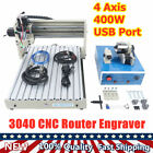 USB Port 4 Axis 400W 3040 CNC Router Engraver Engraving Carving Cutting Machine