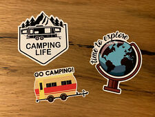 3x Camping Aufkleber Expedition Offroad 4x4 Allrad Wandern Berge Camper V8 #633