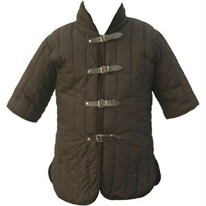 MEDIEVAL GOTHIC FANTASY Black Brown GAMBESON DOUBLET Arming JACKET ARMOR S/M New