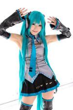 120cm Dark Blue Hair Vocaloid Hatsune Miku Cosplay Wig + 2 Ponytails