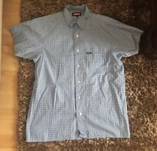 KICKERS DEBENHAMS BLUE SHIRT TOP BOYS SIZE LARGE TO FIT AN AGE 14-15 YEARS
