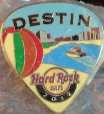 Hard Rock Cafe DESTIN 2012 POSTCARD Series Guitar Pick PIN Post Card HRC #68269