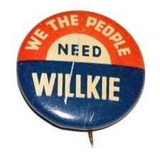 6018 1940 Wendell Willkie ANOTHER DEMOCRAT Campaign Button