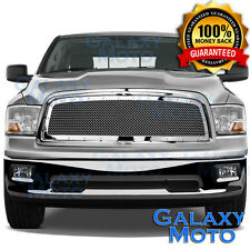 09-12 Dodge RAM Truck 1500 Front Hood Chrome Mesh Grille+Rivet+Replacement Shell