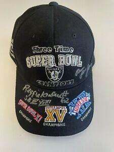 Reggie Kinlaw Run Run Jones NFL Oakland Raiders Superbowl Autographed Hat Reebok