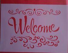 1316 Schablonen Welcome Vintage Stanzschablonen Shabby Stencil Wandtattoo Tattoo