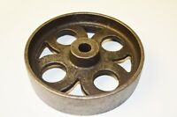 "5"" Cast iron vintage old industrial AXLE WHEEL antique rustic iron"