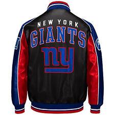 New York Giants faux leather jacket NFL NYG pleather coat FREE SHIPPING