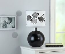 NoJo Good Night Sheep Lamp & Shade Back & White - Unisex