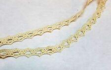 Ecru Crochet Lace Trim 1/2 inch  2 yards