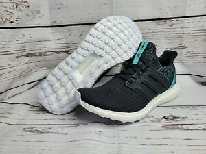 adidas UltraBOOST 4.0 Parley Men's Running Shoe Size 9.5 Black Wht Mint F36190