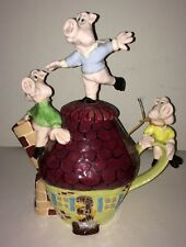Laguna Beach Artist Michael Ezzell Three Little Pigs Tea Pot