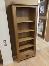 Kingsford Solid Oak Medium Narrow Bookcase / Bookshelf / Shelves 75cm 30cm 180cm