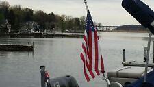 """Removable Pontoon Boat Rail Flag Pole Mount/ Holder,  HOLDS 1"""" FLAG POLE!"""