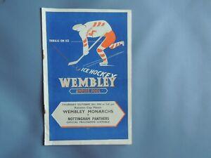 Ice Hockey Empire Pool. Wembley Monarchs v Nottingham Panthers . 28th Oct 1948