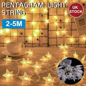 20/30/50 LED Star Lights Battery Operated Fairy String Wire Indoor Party Bedroom