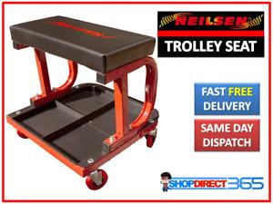 Mechanics Padded Creeper Trolley Seat Car Garage Work Stool Swivel Wheels CT1305