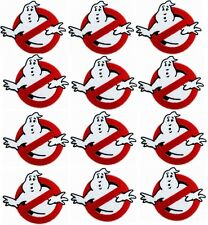 12 pcs GHOSTBUSTERS GHOST Movie Logo BUSTERS IRON-ON Embroidered Applique Patch
