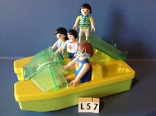 (L57) playmobil famille ballade en pédalo ref 3656
