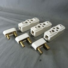 3 French Antique Industrial Electric Porcelain Fuse 1950's by Legrand