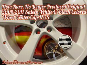 RARE 05-2011 SALEEN WHITE &BLK WHEEL CENTER CAP NOS FORD S281 S302 MUSTANG S331