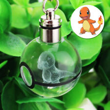 3D Crystal Pokemon Elf Pokeball Charmander Night RGB LED light Key Ring Chanin