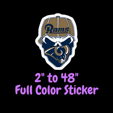 Los Angeles Rams Full Color Vinyl Decal   Hydroflask decal   Cornhole decal 5