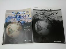 World Geography Abeka 9th grade *Teacher Guide* Test/Quiz-book History