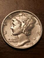 1940 P AU/BU Silver Mercury Dime