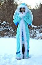 Neopets COSPLAY Taelia the Snow Faerie fairy Fur coat wings dress XS SMALL