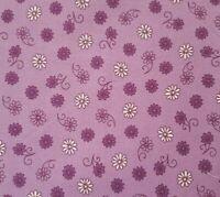 Jasmine BTY Studio 8 Quilting Treasures Ivory Dark Purple Floral on Light Purple