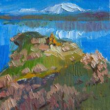 Lake Van mountains church 5 by Armenian artist Batmanyan Original oil Painting